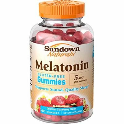 3 Pack - Sundown Naturals Melatonin Gummies 5mg Gluten Free 60ct Each