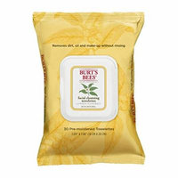 5 Pack Burt's Bees Facial Cleansing Towelettes - White Tea Extract - 30 count Each