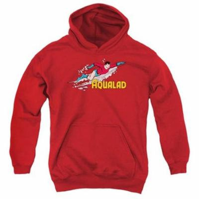 Trevco Dc-Aqualad - Youth Pull-Over Hoodie - Red, Medium