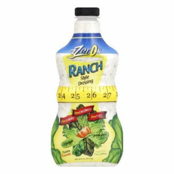 3Zeros Slim Fit Ranch Dressing, 16 FO (Pack of 6)