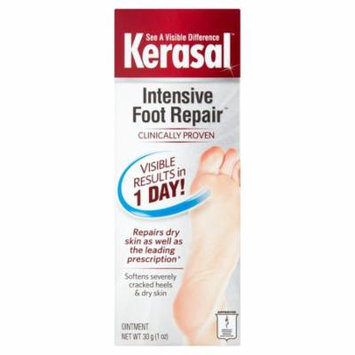 5 Pack Kerasal One Step Exfoliating Moisturizer Therapy Foot Ointment 1 Oz Each