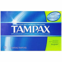 48 PACKS : Tampax Super Tampons with Flushable Cardboard Applicator-10 ct