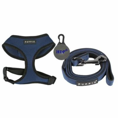 Puppia Dog Soft Mesh Harness and a Leash COMBO Color:Royal Blue Size:XLarge