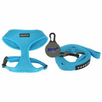 Puppia Dog Soft Mesh Harness and a Leash COMBO Color:Blue Size:XLarge