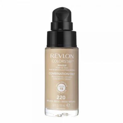 Revlon Colorstay Liquid Foundation Makeup with Pump 220 Natural Beige