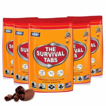 Survival Tabs 10 Day 120 Tabs Emergency Food Survival MREs Meal Replacement for Disaster Preparedness Gluten Free and Non-GMO 25 Years Shelf Life Long Term - Chocolate Flavor