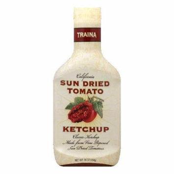 Traina California Sun Dried Tomato Ketchup, 16 Oz (Pack of 6)