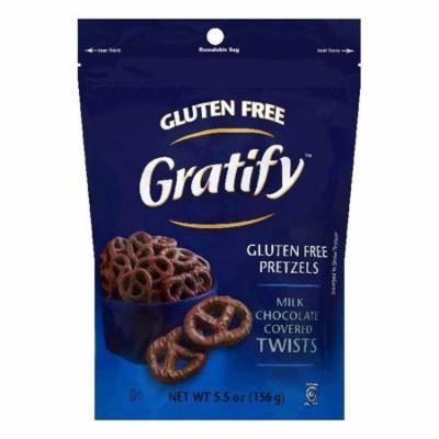 Gratify Milk Chocolate Covered Twists Gluten Free Pretzels, 5.5 OZ (Pack of 8)