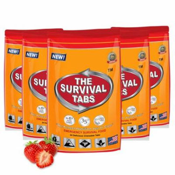 Survival Tabs 10 Day 120 Tabs Emergency Food Survival MREs Meal Replacement for Disaster Preparedness Gluten Free and Non-GMO 25 Years Shelf Life Long Term - Strawberry Flavor