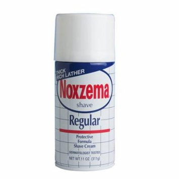 3 Pack NOXZEMA Regular Shave Cream Protective Formula Shaving Cream 11oz Each