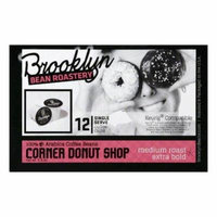 Brooklyn Bean Roastery Corner Donut Shop Single Serve Medium Roast Extra Bold Coffee Cups, 12 PC (Pack of 6)