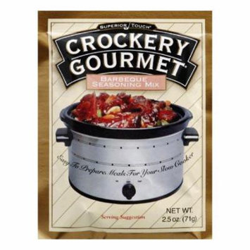 Crockery Gourmet Seasoning Mix BBQ, 2.5 OZ (Pack of 12)
