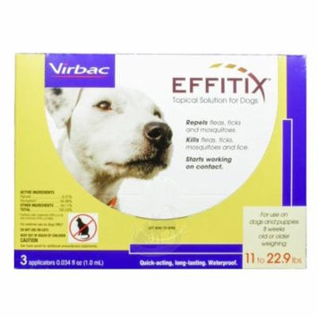Effitix Flea & Tick Topical Solution for Dogs [11-22.9 lb] (3 count)