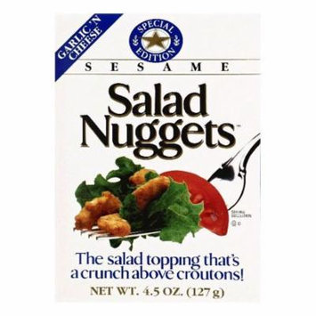 Salad Nuggets Garlic 'n Cheese Sesame Salad Topping, 4.5 OZ (Pack of 12)