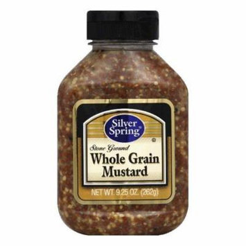 Silver Springs Squeeze Bottle Wholegrain Stone Ground Mustard, 9.25 OZ (Pack of 9)