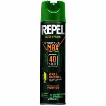 4 Pack REPEL Insect Repellent Sportsmen MAX 40% DEET 6.0 Oz Each