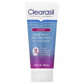 5 Pack Clearasil Ultra Rapid Action Daily Face Wash Acne Treatment 6.78 Oz Each