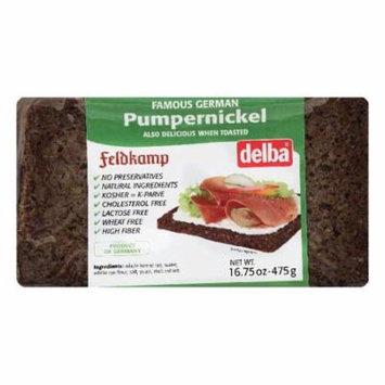 Delba Pumpernickel Bread, 16.75 OZ (Pack of 12)