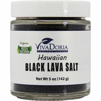 Hawaiian Black Lava Salt (Fine Grain) Black Sea Salt (5 oz glass jar)