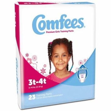 Comfees Premium Training Pants, Girls 3T-4T (32-40 Lbs) - Pack of 23