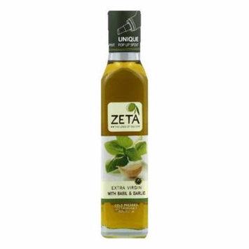 Zeta Dipping Basil Garlic Olive Oil, 250 ML (Pack of 6)