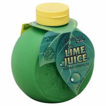 Pompeii 100% Lime Juice, 13 Oz (Pack of 12)