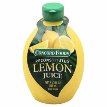 Concord Foods Reconstituted Lemon Juice, 4.5 Fo (Pack of 24)