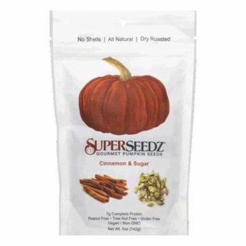 Super Seedz Cinnamon Sugar Pumkin Seed, 5 OZ (Pack of 6)