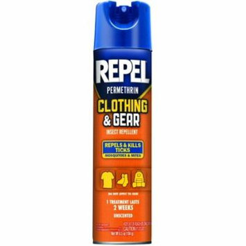 6 Pack REPEL Permethrin Clothing and Gear Insect Repellent Aerosol 6.5 Oz Each