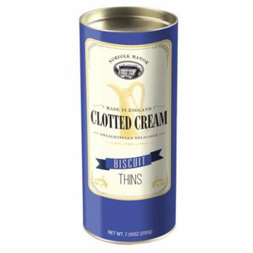 Norfolk Manor Clotted Cream Biscuit Thins, Tube, 7.05oz (200g)