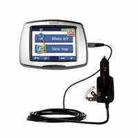 Intelligent Dual Purpose DC Vehicle and AC Home Wall Charger suitable for the Garmin StreetPilot C550 - Two critical functions, one unique charger - U