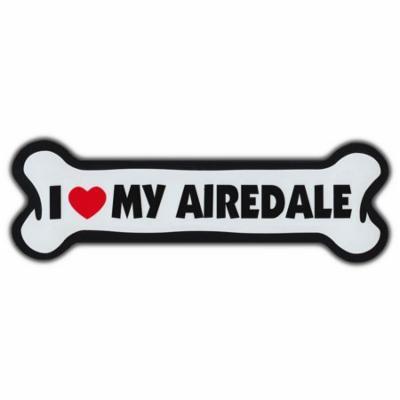 Giant Size!!! Dog Bone Magnet: I Love My Airedale | Cars, Trucks, Refrigerators