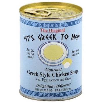 Its Greek To Me It's Greek To Me! Greek Style Chicken Soup, 20.2 oz, (Pack of 12)