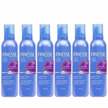 6 Pack - Finesse Shape + Strenghten Extra Control Mousse 7 oz Each