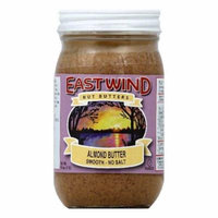 East Wind No Salt Smooth Almond Butter, 16 OZ (Pack of 6)