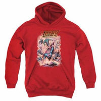 Trevco Jla-Lost Youth Pull-Over Hoodie, Red - Large
