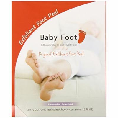 Baby Foot Exfoliant Foot Peel Lavender Scent 2.4 Fl OZ (70mL) - Pack of 2.
