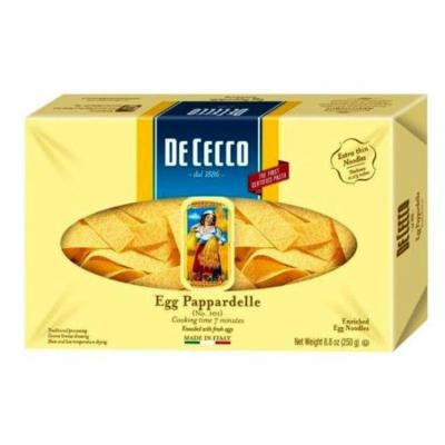 12 PACKS : De Cecco Egg Pappardelle Enriched Egg Noodles, 8.8oz