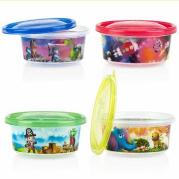 Baby Feeding - Nuby - 4pc Wash Toss Bowl w/Lid (1 Only) Vary Color 94043