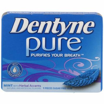 20 PACKS : Dentyne Pure Gum, Mint with Herbal Accents