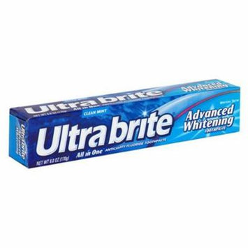 3 Pack Ultra Brite Advanced Whitening All in One Mint Toothpaste 6.0 Oz Each