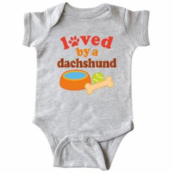 Loved By A Dachshund Dog Infant Creeper