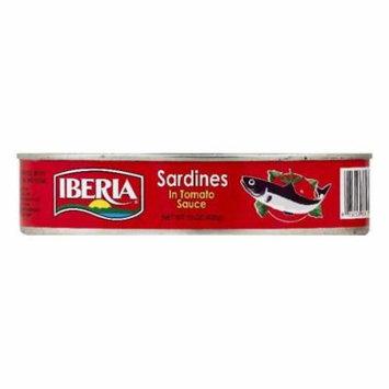 Iberia in Tomato Sauce Sardines, 15 OZ (Pack of 24)