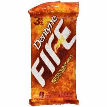 20 PACKS : Dentyne Fire Sugar Free Gum Spicy Cinnamon - 3 PK