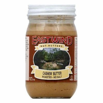 East Wind No Salt Roasted Cashew Butter, 16 OZ (Pack of 6)