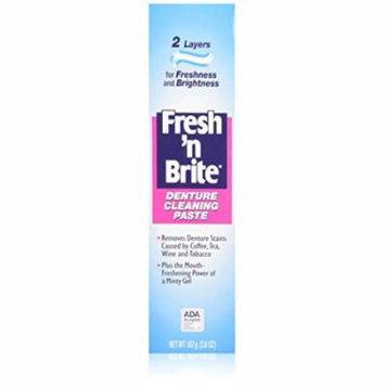 3 Pack Fresh'n Brite Dual-Layer Denture Toothpaste, 3.8 Oz Each