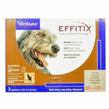Effitix Flea & Tick Topical Solution for Dogs [89-132 lb] (3 count)
