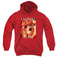 Trevco Jla-Fastest Man Alive Youth Pull-Over Hoodie, Red - Small