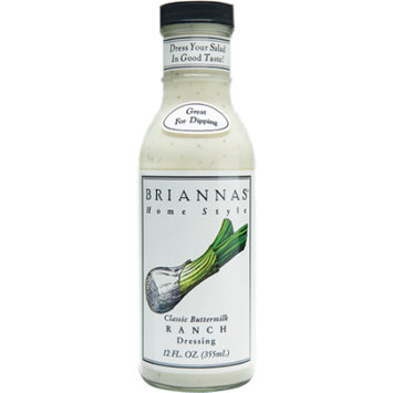 Briannas Classic Buttermilk Ranch Dressing, 12 OZ (Pack of 6)