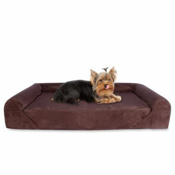 Deluxe Orthopedic Memory Foam Sofa Lounge Dog Bed - Small - Brown